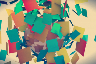 Colorful Papers Art Abstract wallpaper