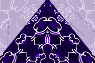Purple pyramid art