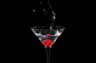 Raspberries cocktail