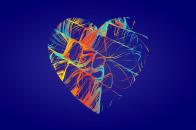 Blue Heart Love Image