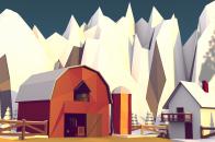 Low poly winter barn v2