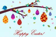 Cute Easter Wishing HD Wallpaper