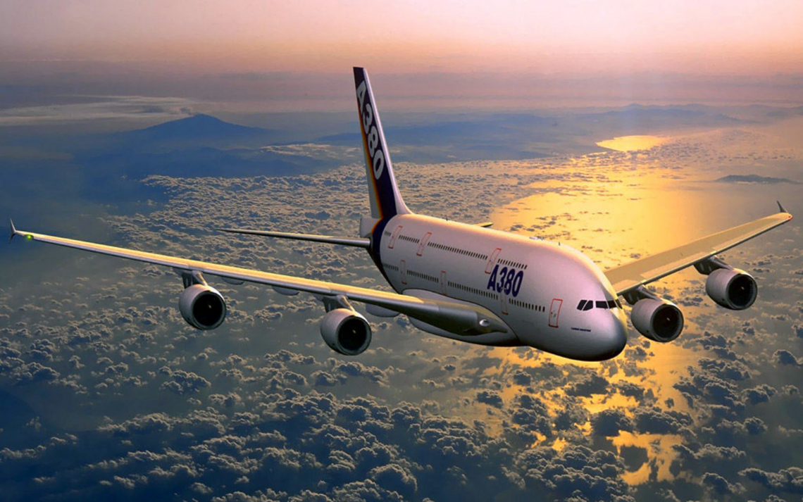 A380 airplane flying in sky