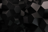 Dark Color 3D Chocolate Pieces Abstract Background