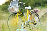 Yellow Cycle Vintage Photo