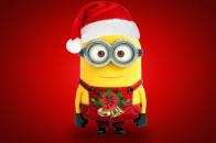 Merry, christmas, minions,