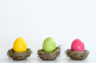 Easter dyed eggs