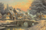 Classic, christmas, painting, by, emma