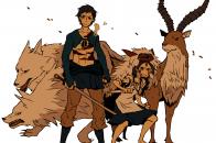 Illustration, anime, cartoon, Princess Mononoke, Studio