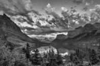 Glacier, national, park, montana, black