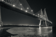 Vasco, da, gama, bridge, black, and, white