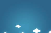 Cartoon clouds and blue sky
