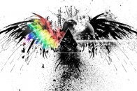 4k pink floyd, bird, graphics, spray, colors