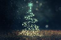 Christmas, tree, bokeh