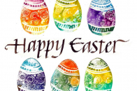Cute Easter Eggs Art Painting Image For Special Easter Day Wallpaper