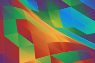 Colorful Abstract Triangles Wallpaper