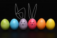 Happy easter 2019 easter eggs funny bunny