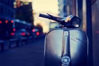Latest Model Bike Stop On Road Image