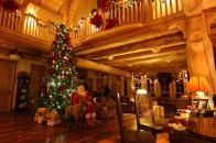 Lodge, at, christmas, time