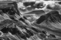 Quiraing, black, and, white