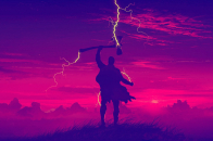 Thor endgame minimalist ultra 4k, desktop background