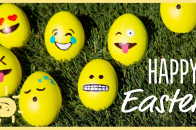 Cute Funny Yellow Eggs Easter Day Wishing Face Image