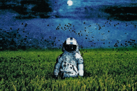 HD Wallpapers Space Man in Fields
