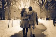 Romantic, walk, in, the, park