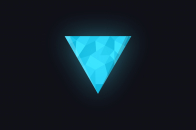 Geometric triangle blue
