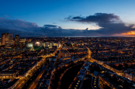 The Hague Netherland Night City Top View