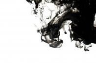Black Ink Drop in White Water Ultra 4K Desktop Background