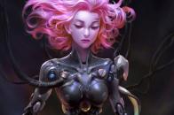 Dva over watch cyborg girl gv