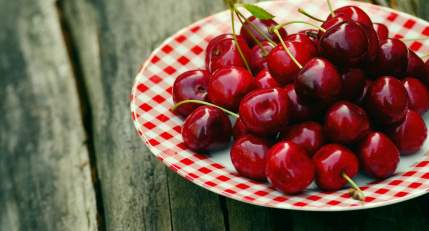 Sweet cherries fruits
