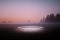 Circle light grassland