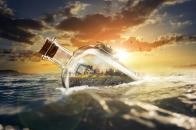 Ocean drift bottle