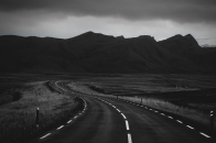 Road, in, black, and, white