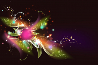 3D Colorful Flowers With Colorful Lights