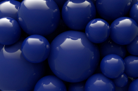 Glossy blue balls background