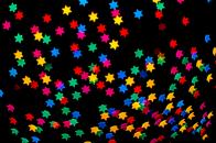 Colorful stars bokeh