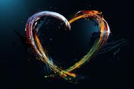 3D 1080p colorful heart wallpaper