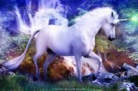 1366x768 3D Animated Unicorn Wallpaper