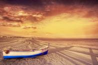 Ship on desert