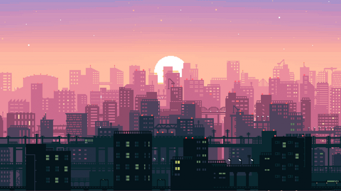 Bit Pixel Art City