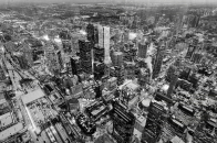 Aerial, photography, toronto, black, an