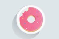Bitten pink doughnut