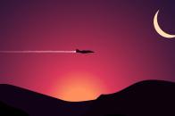 Jet fighter flat design illustratio