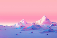 Lowpoly mountains landscape