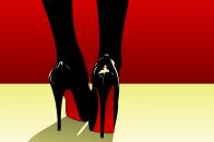 Pop art high heels shoes red bottom