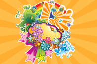 Vector colorful flower for pc