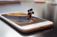 Cool virtual reality skateboarding background